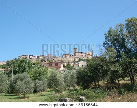 View of medieval city of Volterra Tuscany Italy