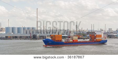 Containers On A Containership