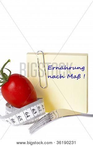 Messung der Band Briefpapier gesunde Ernährung und Diät