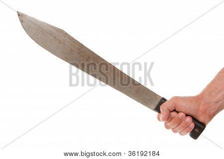 Man Holding A Machete
