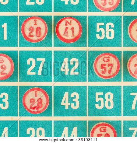 Wooden Numbers Used For Bingo
