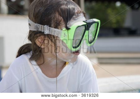 Swimmer, Little Girl With Snorkel