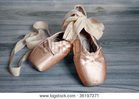 Worn Ballet Shoes