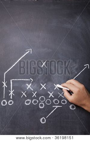 Football Coach Draws Play