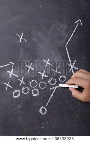 Coach Drawing Football Play