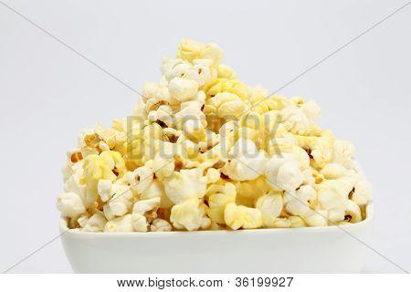 Delicious Popcorn On Whtie