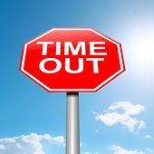 foto of breather  - Illustration depicting a roadsign with a time out concept - JPG
