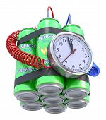 picture of time-bomb  - 3D concept with time bomb and energy drink - JPG