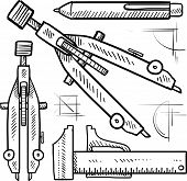 Drafting tools sketch