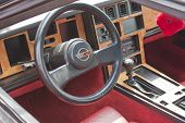 Red 1980 Chevy Corvette Interior