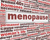 stock photo of ovary  - Menopause poster design - JPG