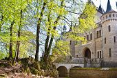 romantic ancient  castle Marienburg