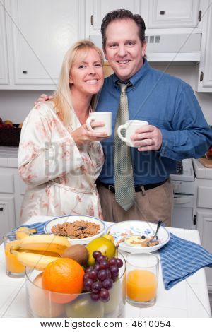 Attractive Couple In Kitchen