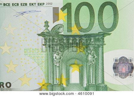 One Bill Of One Hundred Euros
