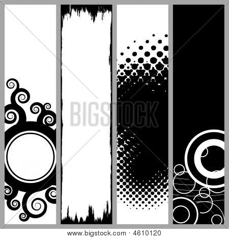 Vertical Funky Banners Collection