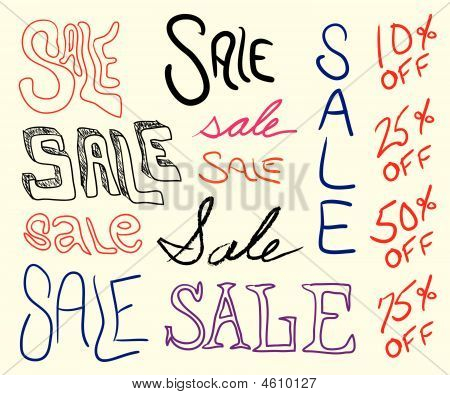 Hand Written Sale Signs