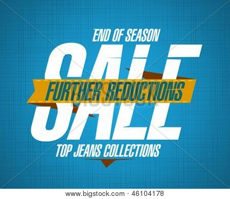 Further reductions sale design template for jeans collections