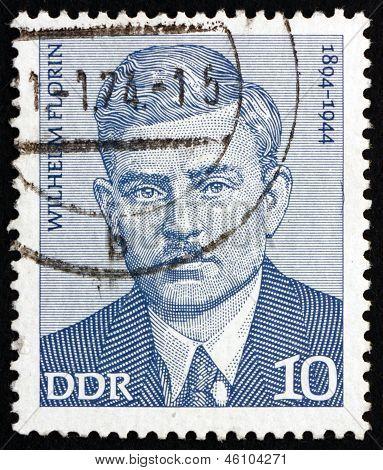 Postage Stamp Gdr 1974 Wilhelm Florin, Politician