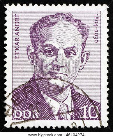 Postage Stamp Gdr 1974 Etkar Andre, Politician