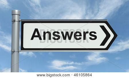 Road Sign - Answers