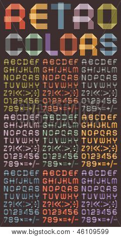 Font from colored scotch tape