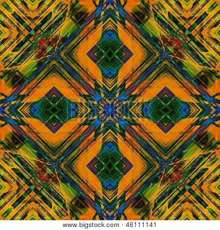art eastern national traditional pattern, background in orange, green, violet and blue colors