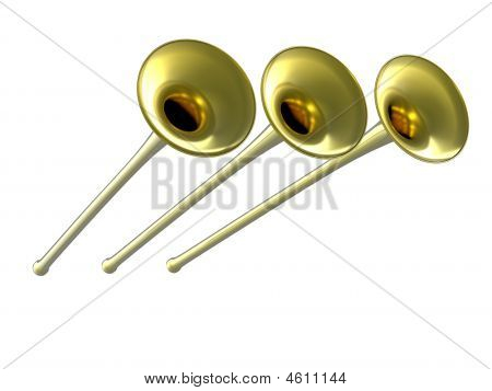 3D Golden Fanfare
