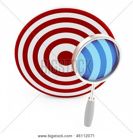 3D Target With Magnifying Glass