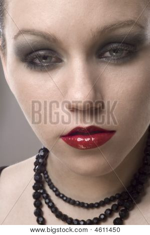 Close Up Shot Of A Young Beautiful Woman