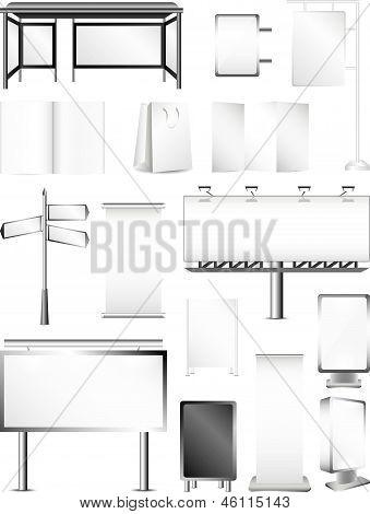 advertising areas vector set