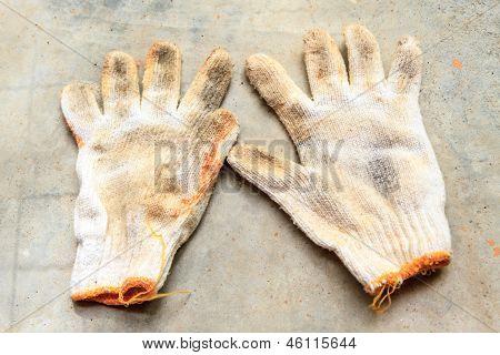 Old Construction Gloves,work Gloves
