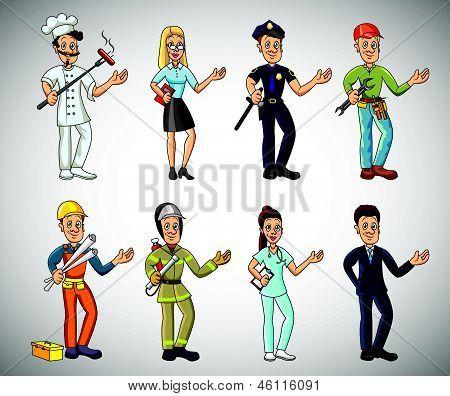 Vectores y fotos en stock de dibujos animados populares trabajos y ...