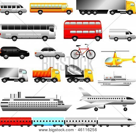transport big detailed vector set