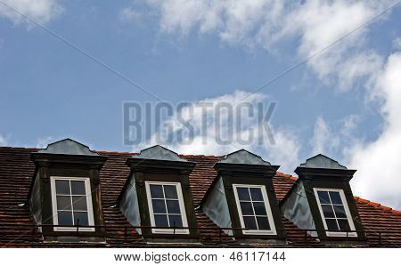 Mansard roof in Poznan