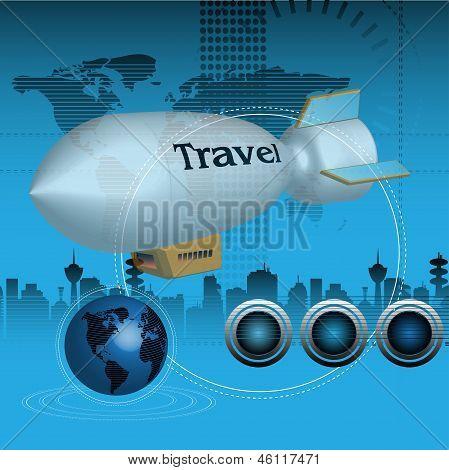 Traveling blimp