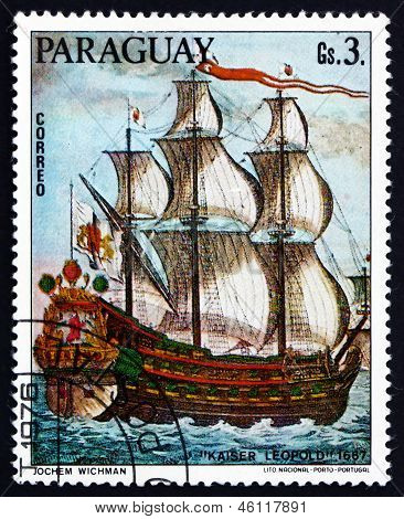 Postage Stamp Paraguay 1976 Kaiser Leopold, 1667, Painting