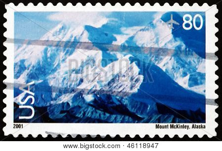 Postage Stamp Usa 2001 View Of Mt. Mckinley