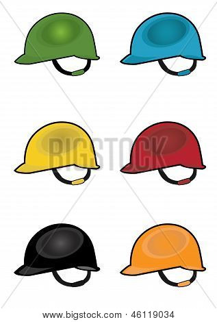 colorful construction safety helmet illustration
