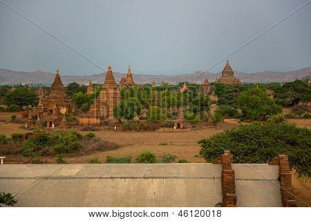 Panorama view of old Bagan, Myanmar