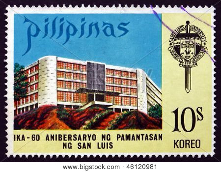 Briefmarke Philippinen 1973 San Luis Universität, Luzon
