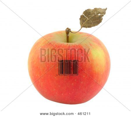 Apple With A Bar Code Of A Nonexistent Product
