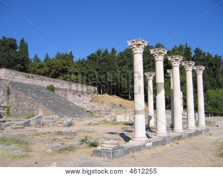 Ancient Columns Of Greek Temple