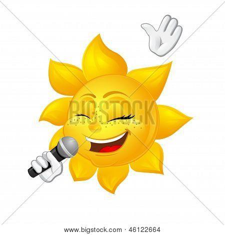 Sonne mit Sommersprossen singt
