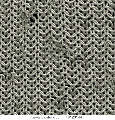 Shining chainmail texture close up image