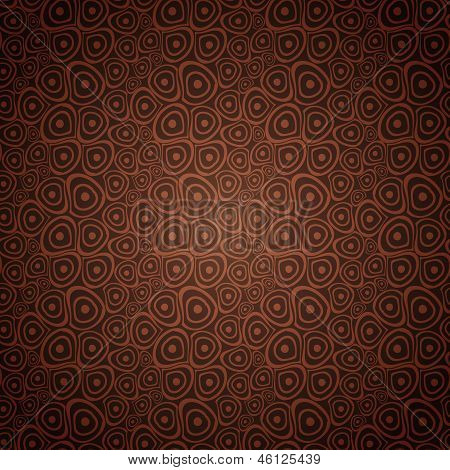 Doodle circles coffee brown seamless background