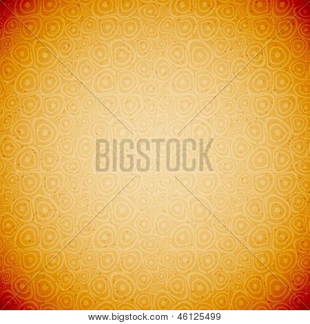 Vintage Doodle circles yellow seamless background