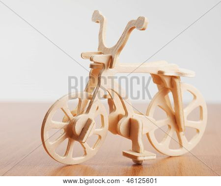 Wooden Bicycle Toy - Woodcraft Construction