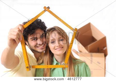 Young Couple Purchase New Home