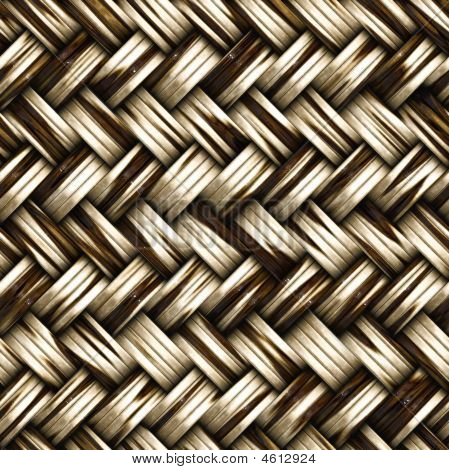A Seamless Woven Wicker Material