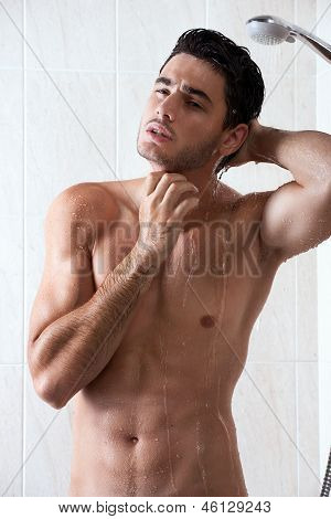 sexy man n the shower